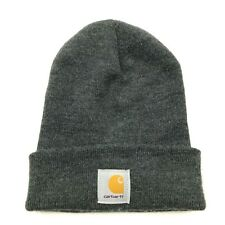 VINTAGE Carhartt Hat Cap Beanie Gray One Size Knitted Adult Workwear 90's USA