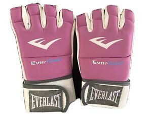 EVERLAST Evercool Kickboxing Women's Gloves Pink/White  One Size ( No Box)