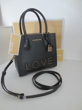 Michael Kors MERCER LOVE Messenger Black Tasche Taschen Schwarz Schultertasche
