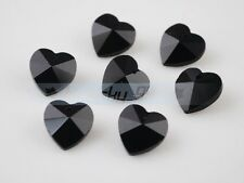 10pcs 14mm Heart Crystal Glass Charms Faceted Loose Spacer Beads Pendants