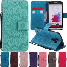 Sunflower Embossed Card Holder Wallet Flip Leather Case Cover For LG G6 G5 G4 G3