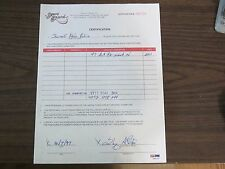 Shareef Abdur-Rahim Autographed / Signed Score Board Contract PSA/DNA Grizzlies