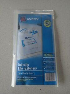 Avery Blue Tubeclip File Fastener Set 10 / Pack 44005B