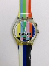 RARE SWATCH DEVOTION Gent Loomi wristwatch (GN900) with Light Multicolored