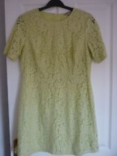 Collection Limitée M & S Citron Vert Dentelle occasions robe. UK 16, EUR 44, US 12 Pretty