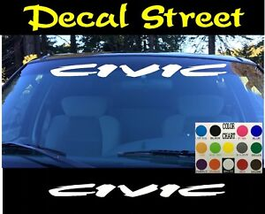 Honda Civic Windshield Banner Visor Die Cut Vinyl Decal Sticker JDM