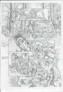 "🆕  Gears of War published page (11""x17"") original comic  1/1 Cosmotrama Studio"