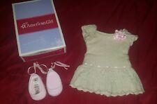 American Girl Doll Retired Sweet Spring Metallic Rose Shoes Dress Set