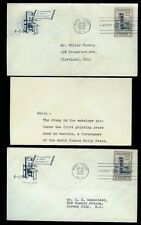 300th Anniversary American Printing Press 857 Set 2 Farnam Varieties + Letter