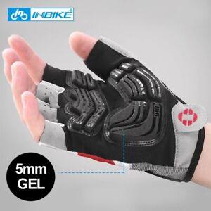Cycling gloves INBIKE shockproof gel pad sport men women MTB bike