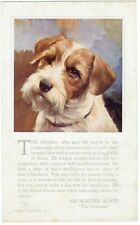 More details for sealyham terrier head study rare extra large spratts 1931 dog food advert card