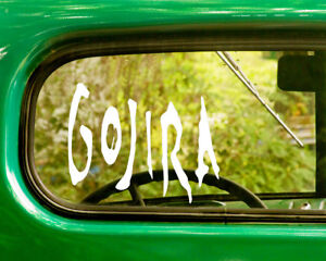 2 GOJIRA DECAL Stickers For Car Window Bumper Truck Laptop Jeep Rv