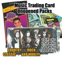 Music Trading Card Unopened 50 Packs of Mixed Lot (Elvis,New Kids,Bob Marley etc