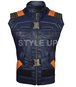 Men's Erik Killmonger Michael B. Jordan Black Panther Vintage Faux Leather Vest