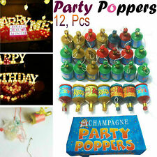 12x Party CONFETTI Poppers Filler Wedding New Years Birthday Fun Decoration Set