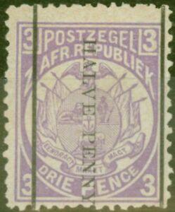 Transvaal 1885 1/2d Auf 3D Mauve SG192 Fein MTD Postfrisch