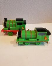 "2 Thomas & Friends Minis CLASSIC Series PERCY 4"" green #6 Train USED # 32"