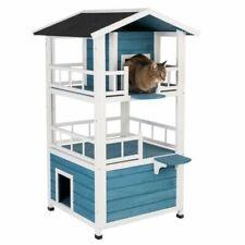 Cat House Penthouse Indoor Outdoor Wooden Raised Veranda Dens Spacious Quality