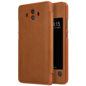 Nillkin Qin Series Premium Faux Leather Flip Case for Huawei Mate 10 - Brown