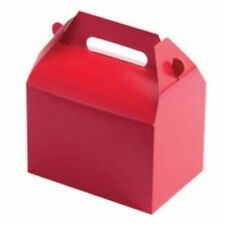 Red Party Supplies Boxes Birthday Decoration Gable Loots x12 Goody Bag Solid New