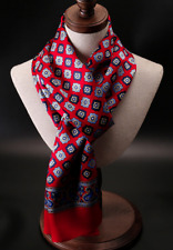 100% Silk Mulberry Satin Scarf men women neckerchief Wrap soft blue red QS175-5