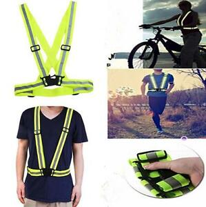 Adjustable Vest High Vis Safety Visibility Waistcoat Jacket Reflective Belt JI