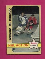 1972-73 OPC # 209 LEAFS DAVE KEON ACTION GOOD CARD (INV#5628)