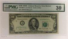 $100 1950C FRN Boston PMG 30 FR#2160-A AA Block Smith   Dillon