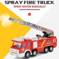 Shooting Water Lights N Sounds Fire Truck Toy Rescue Vehicle Gift for Kids GIFT