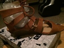 CL by Chinese Laundry Womens  Tan  Sandals   W/low Wedge Heels Size 8M -NIB