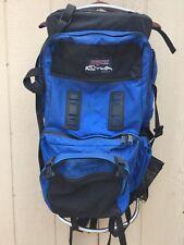 Vintage🔥 JANSPORT Framed Hiking Backpack 90's Adjustable Waist USA MADE Blue