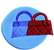Tiny Purse Handbag Silicone Mold for Fondant, Gum Paste, Chocolate, Crafts NEW