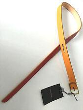 PAUL SMITH Mujer Cinturón Naranja & Rojo Cinturón De Cuero Talla S - 75cm