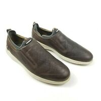 Ecco Danish Design Perforated Leather Slip On Shoes Brown 45 US 11 - 11.5