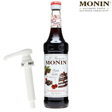MONIN Coffee Syrups - BLACK FOREST - 1L Bottle & Pump Set - USED BY COSTA COFFEE