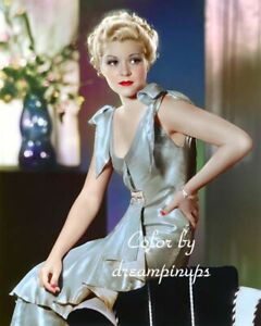 CLAIRE TREVOR 1934 Hollywood Color Portrait by OTTO DYAR
