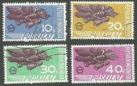 Indonesia Scott#s E1, E5-6, E10, Special Delivery, Unused CTOs FG, LH, 1967-1969