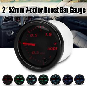 2'' 52mm Universal Car Pointer 7 Color Led Bar Turbo Boost Gauge Pressure Meter