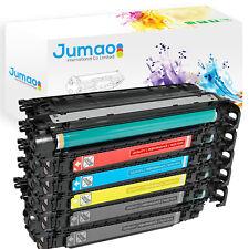 Lot de 5 Toners cartouches type Jumao compatibles pour HP Color LaserJet CP3520
