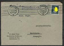 Deutsches Reich 1944 RENDSBURG Briefmarken Grosshandel HAMBURG ST PAULI Beleg