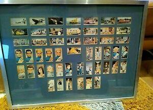 THUNDERBIRDS Full Set Framed (2nd Series) 50 Cards Gerry Anderson 1967 Barratt