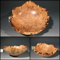 BIGLEAF MAPLE BURL G+ bowl #14807 made by Smithsonian Artist, David Walsh