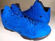 Nike Lebron 11 XI EXT QS Blue Suede Game Royal Black Rare SZ 12 (656274-440)