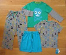 BNWT BOYS M&S 5-6yrs PYJAMAS pj's 4x PART SET Cotton Rich Design Sleepwear