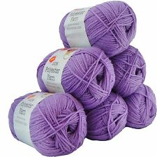 PORTA CRAFT 10 X 100g Super Soft Polyester Knitting Yarn 220m PERIWINKLE