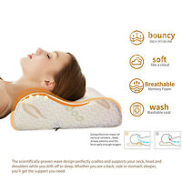 Memory Foam Neck Pillow Anti Snore Soft Supportive Hypoallergenic Contour Pillow