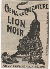 Pubblicità epoca LION NOIR SCARPE CREMA CALZATURE MODA advert werbung publicitè