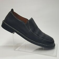 Tommy Bahama Mens Loafers Black Pebbled Leather Slip On Shoes Made Spain Sz 7.5