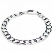 Bracelet Gourmette pour homme argent, simple élégant et pas cher