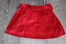 JANIE AND JACK size 2T RED VELVET adjustable waiste skirt